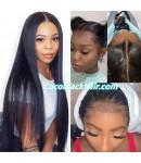 Jody-silky straight 370 wig pre plucked Brazilian virgin human hair