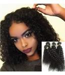 Chinese virgin 4 bundles curly hair weaves