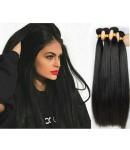 Malaysian virgin 4 bundles silky straight hair weaves