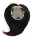 4.5inchesx5inches round silk base topper hair pieces[TP02]