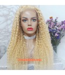 Karrie-613 curly pre plucked full lace wig Brazilian virgin hair