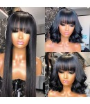 Emily56-Brazilian virgin bang hair 360 wig