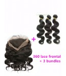 360 lace frontal with 3 wefts Brazilian virgin body wave