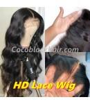 Clover-HD Lace 13x6 Wig Body Wave Pre plucked Brazilian virgin human hair 150% density