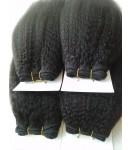 Brazilian virgin Italian Yaki 4 bundles hair wefts
