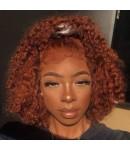 Emily43-pre plucked Brown curls 360 wig Brazilian virgin hair