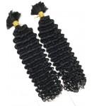 Two bundles Brazilian virgin deep wave bulk hair wefts