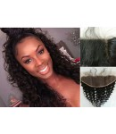 Chinese virgin deep wave lace frontal