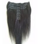 Brazilian virgin silky straight Clips in hair extensions