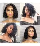 Emily27-Pre plucked deep curly bob 360 wig Brazilian virgin human hair