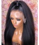 Nova 05-Kinky straight Brazilian virgin 13x6 wig glueless lace front Pre plucked hairline