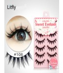 5 pairs Manual thick false eyelash-#108