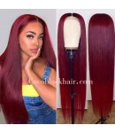 Cindy-natural/ 99j color 360 wig Brazilian virgin human hair pre plucked hairline