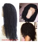 Alba-Indian virgin human hair jerry curl full lace wig
