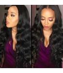 Judi-Brazilian virgin human hair body wave full lace wig