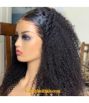 Asma-Kinky curly full lace wig Brazilian virgin human hair