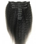 Brazilian virgin kinky straight Clips in hair extensions