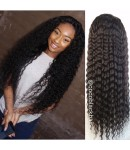 Lena-Burmese virgin hair 8mm curly silk top full lace wig bleached knots