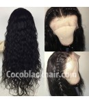 Emily23-Brazilian virgin big deep wave 360 frontal wig