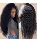Emily60-pre plucked loose kinky curly Brazilian virgin 360 wig