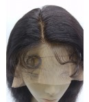 San-Indian remy human hair natural wave full lace wig