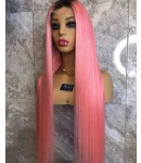 Gloria-Brazilian silky straight #n/pink full lace wig