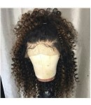Sarah-Brazilian virgin Afro Curl human hair Full Lace Wig