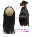 360 frontal with 4 bundles Brazilian virgin straight