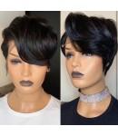 Hope-Indian virgin short hair summer bob hair glueless lace front wig