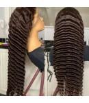 Emily63-Pre plucked Tight deep wave 360 wig Brazilian virgin hair