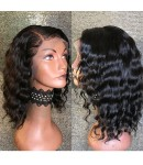 Emily26-Brazilian virgin tropic wave bob 360 lace frontal wig