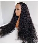 Jody13-water wave 370 wig pre plucked Brazilian virgin human hair