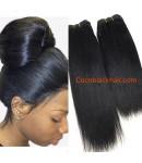 Brazilian virgin human hair yaki straight wefts