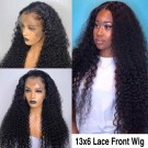 Edna-Pre plucked Brazilian virgin spiral curly 13x6 glueless lace front wig 150% density