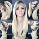 Emily08-Brazilian virgin ombre straight 360 lace frontal wig