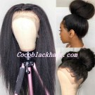 Jody07-kinky straight 370 wig pre plucked Brazilian virgin human hair