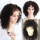 Emily40-Pre plucked Brazilian virgin Afro curl 360 wig