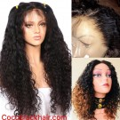 Emily09-Brazilian virgin curly wave 360 lace frontal wig