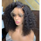 Alice-Pre plucked deep wave bob 13x6 glueless lace front wig Brazilian virgin human hair