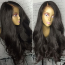 Aysha-Brazilian virgin loose wave 180% density glueless full lace wig