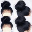 Jacky- Brazilian virgin pre plucked Italian yaki full lace wig