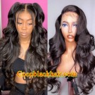 Hazel-HD Lace 13x6 Wig Loose Wave Pre plucked Brazilian virgin human hair glueless lace front wig