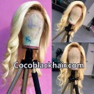 Emily42-Pre plucked 1b/613 loose wave 360 wig