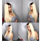 Mary- Brazilian virgin straight Ombre  #1b / 613 full lace wig