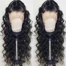 Mavis-Brazilian virgin pre plucked beachy wave full lace wig