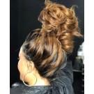 Naomi-Brazilian straight ombre color pre plucked full lace wig