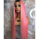 Gloria-Brazilian silky straight #n/pink full lace wig