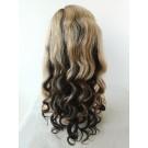 Tonya-Brazilian virgin ombre hair Glueless full lace wig with 2x4 silk top