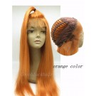 Adele- Brazilian virgin orange colour lace front wig