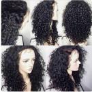 Rolita-Brazilian virgin curly wave full lace wig